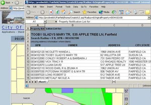 City of Fairfield Enterprise Geodatabase
