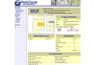 Davis County, Utah Enterprise Parcel Database and Web Application Development