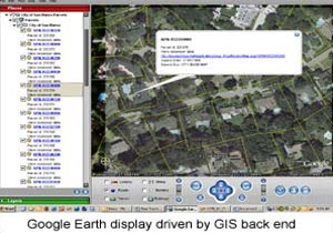 City of San Mateo Google Earth integration with OGC compliant data