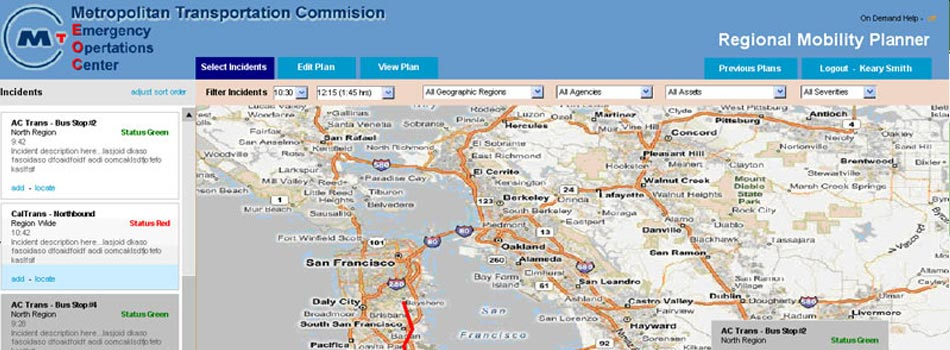 Farallon builds Emergency Operations Center (EOC) incident management application for MTC