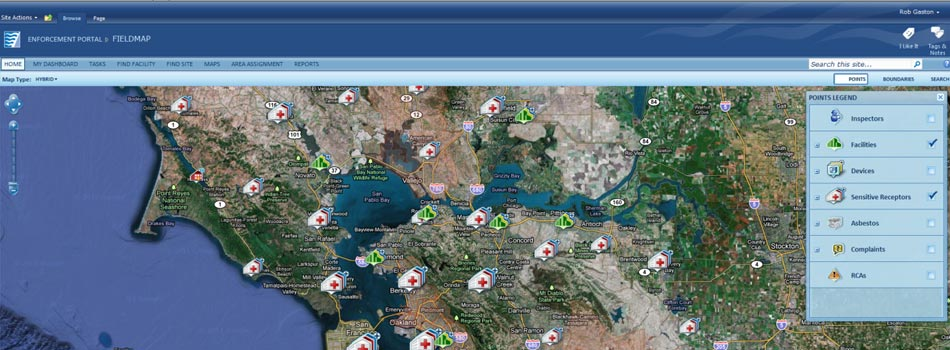 Bay Area Air Quality Management District  Geospatial Components