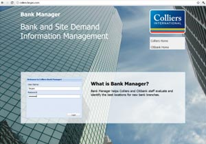 Colliers International Bank Site Data Management Application