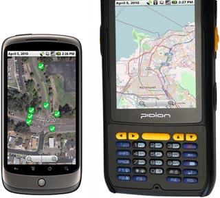 GIS data collection and location-based services apps for Android, iPhone, iPad and other mobile devices