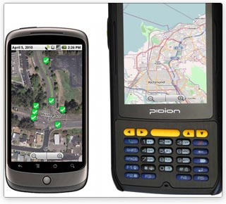 Customized mobile solution runs on Open Source Android mobile platform devices including smartphones, tablets, and rugged enterprise-class mobile computers with high accuracy GPS receivers
