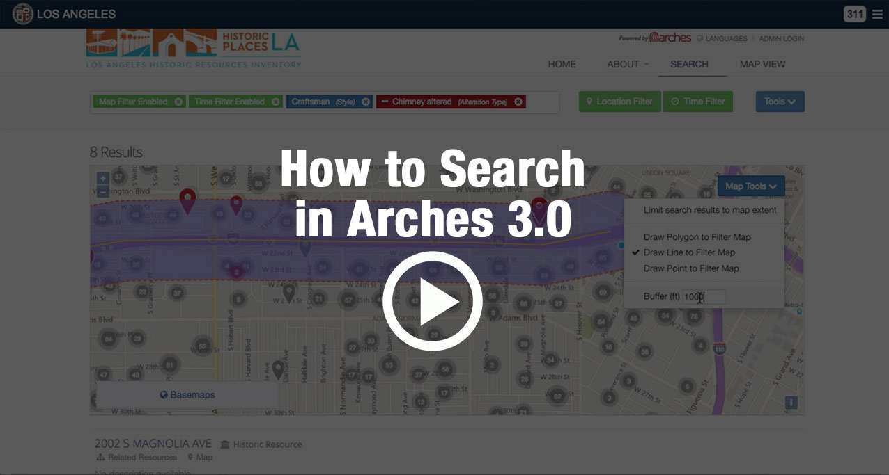 How to Search in Arches Cultural Heritage Management software