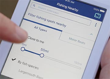 Use your mobile phone to find the best fishing hotspots near you